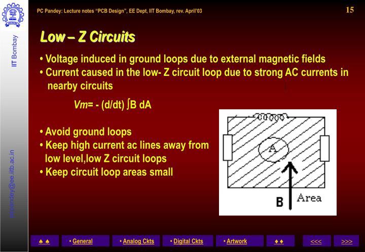 Low – Z Circuits