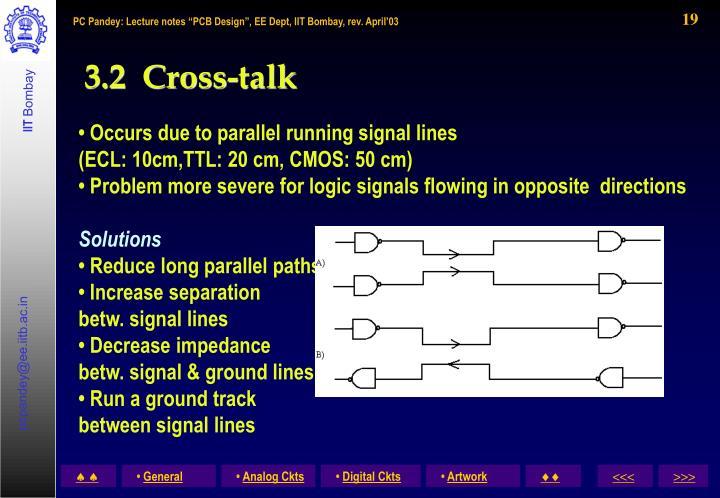 3.2  Cross-talk
