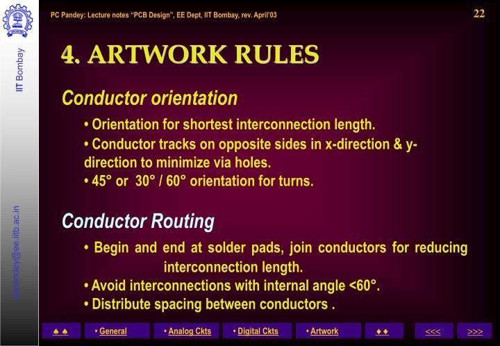 4. ARTWORK RULES