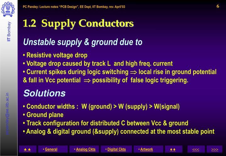 1.2  Supply Conductors