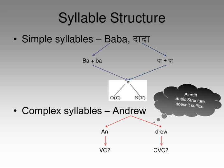 Syllable Structure