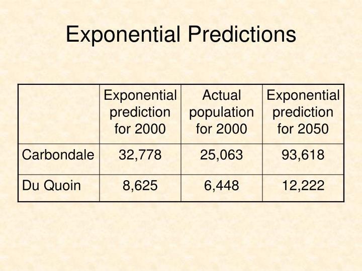Exponential Predictions