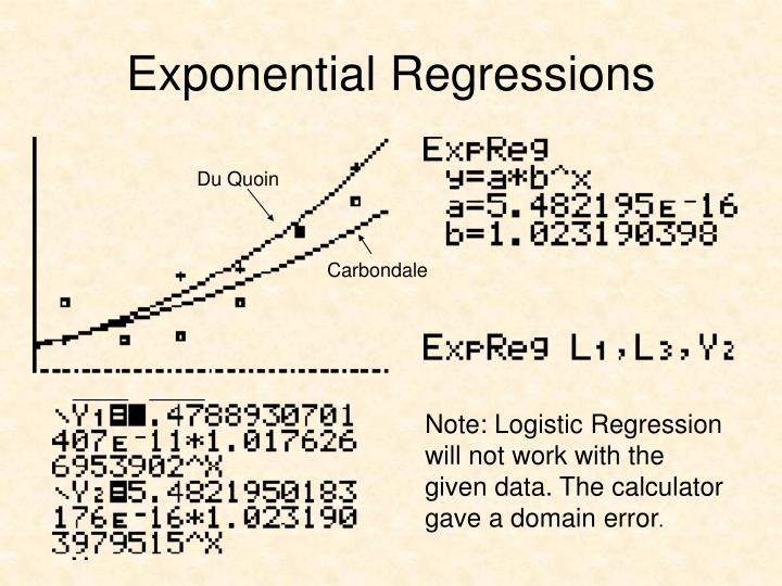Exponential Regressions