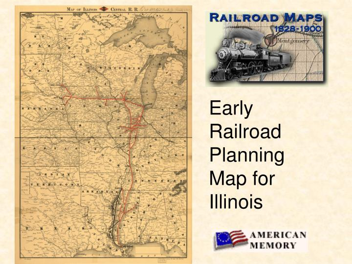 Early Railroad Planning Map for Illinois