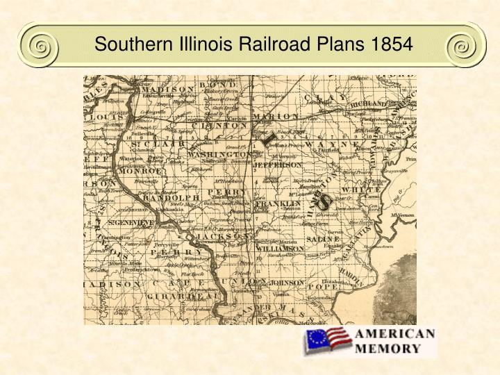 Southern Illinois Railroad Plans 1854