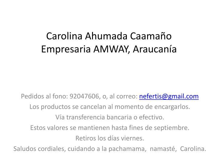 Carolina Ahumada Caamaño