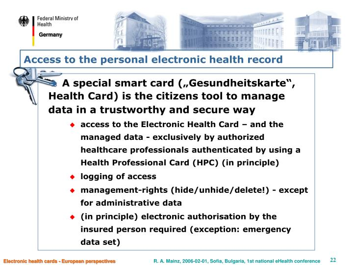 Access to the personal electronic health record