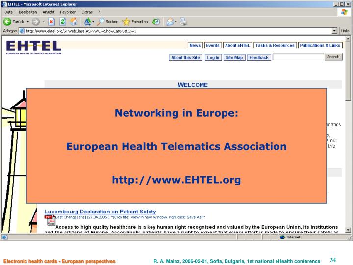 Networking in Europe: