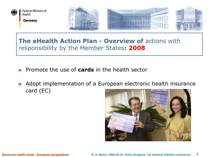 The eHealth Action Plan - Overview of