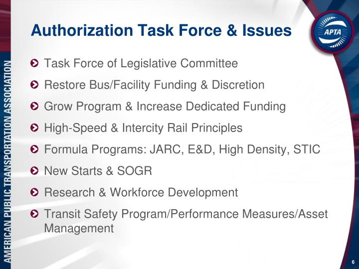 Authorization Task Force & Issues
