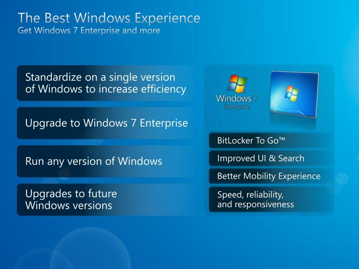 The Best Windows Experience