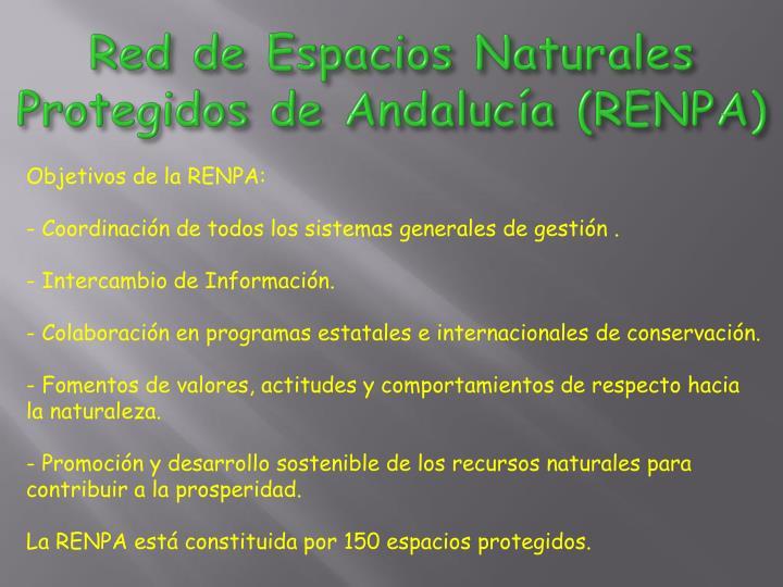 Red de Espacios Naturales Protegidos de Andalucía (RENPA)