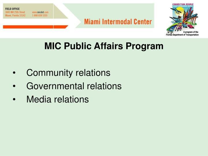 MIC Public Affairs Program