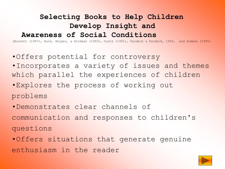 Selecting Books to Help Children