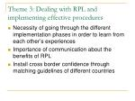 theme 3 dealing with rpl and implementing effective procedures