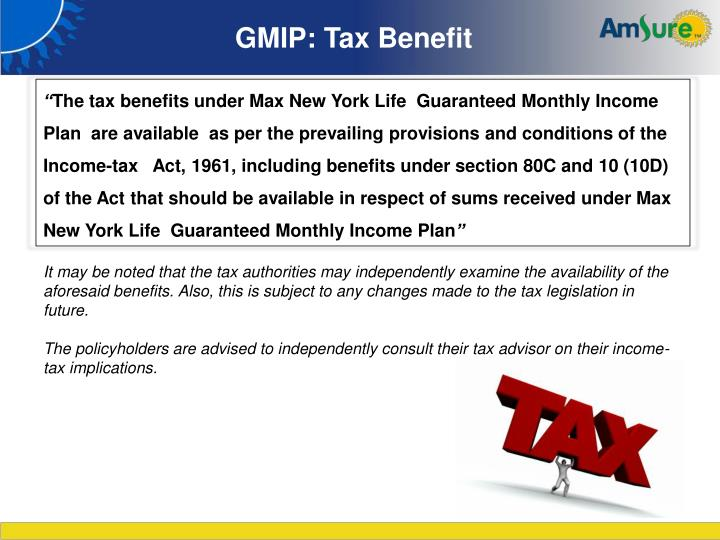 GMIP: Tax Benefit