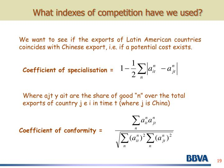 What indexes of competition have we used?