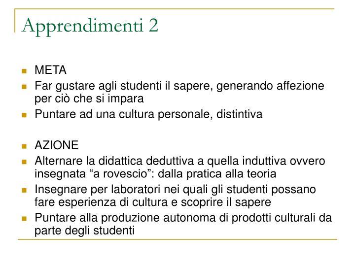 Apprendimenti 2