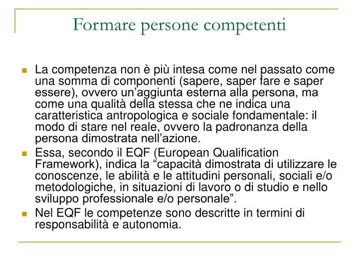 Formare persone competenti