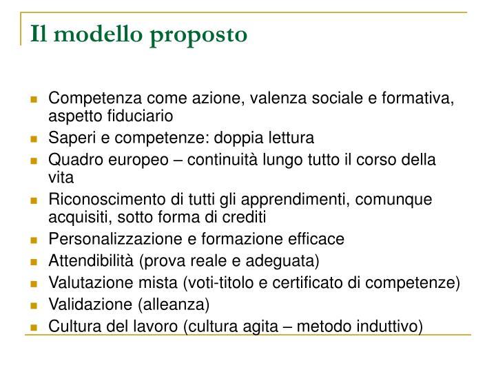 Il modello proposto