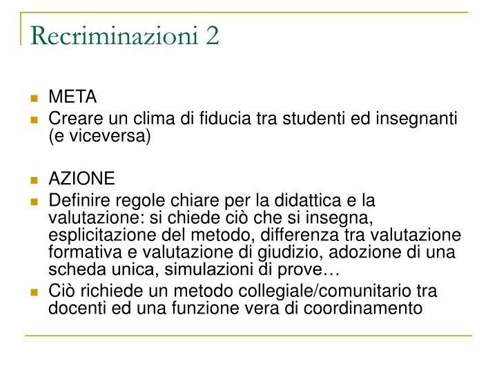 Recriminazioni 2