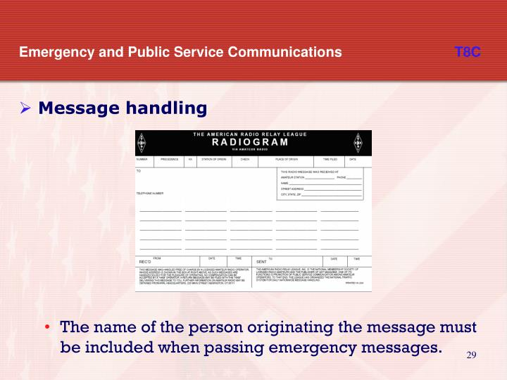 Emergency and Public Service Communications