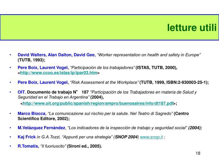 letture utili