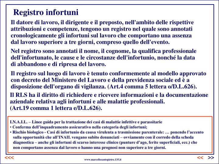 Registro infortuni