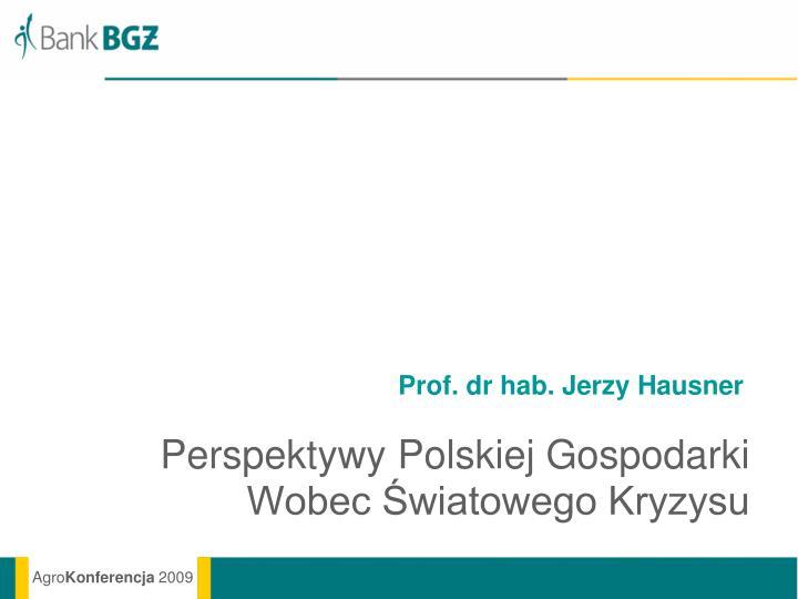 Prof. dr hab. Jerzy Hausner