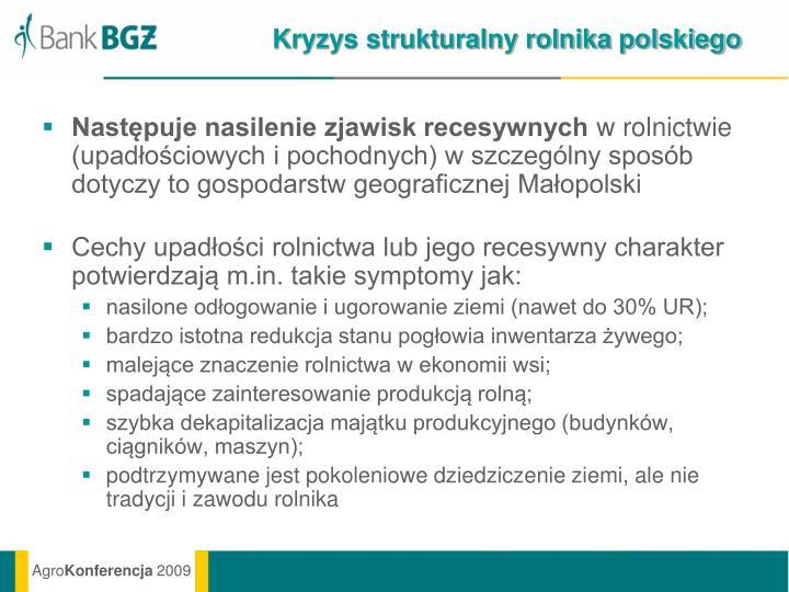 Kryzys strukturalny rolnika polskiego