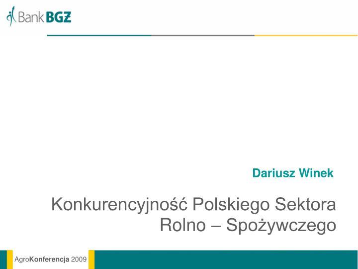 Dariusz Winek