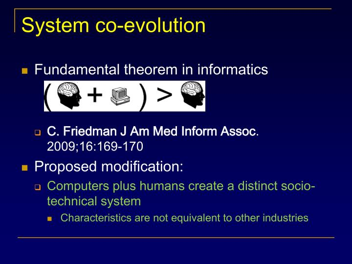 System co-evolution