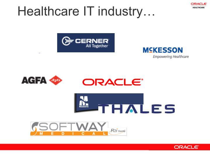 Healthcare IT industry…