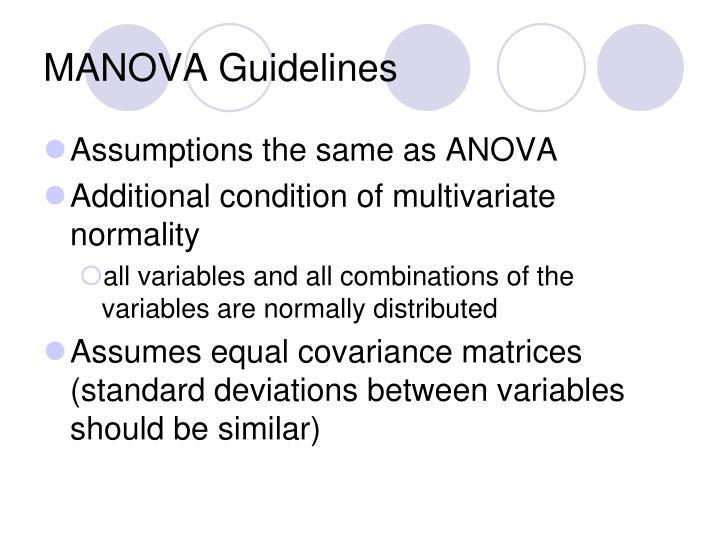 MANOVA Guidelines