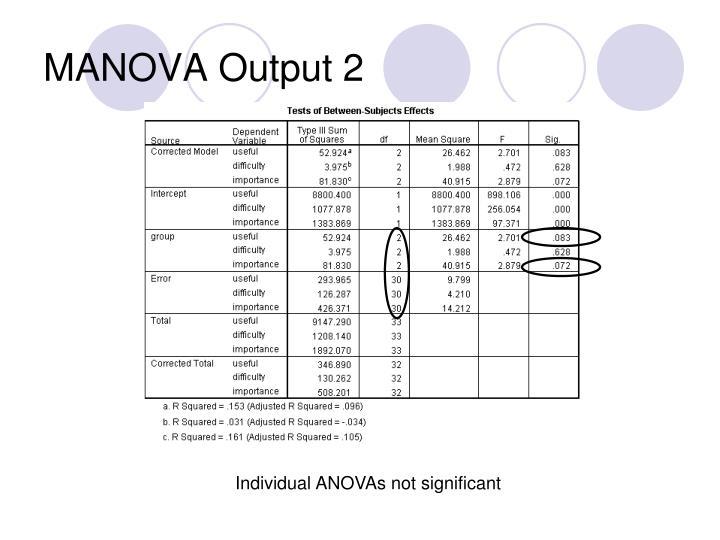 MANOVA Output 2