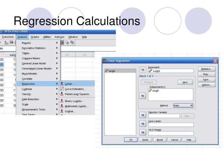 Regression Calculations