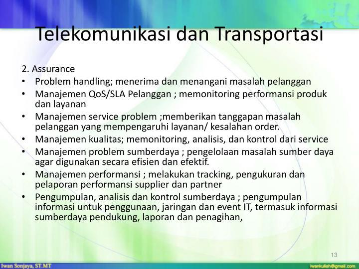 Telekomunikasi dan Transportasi