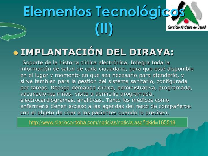 Elementos Tecnológicos (II)