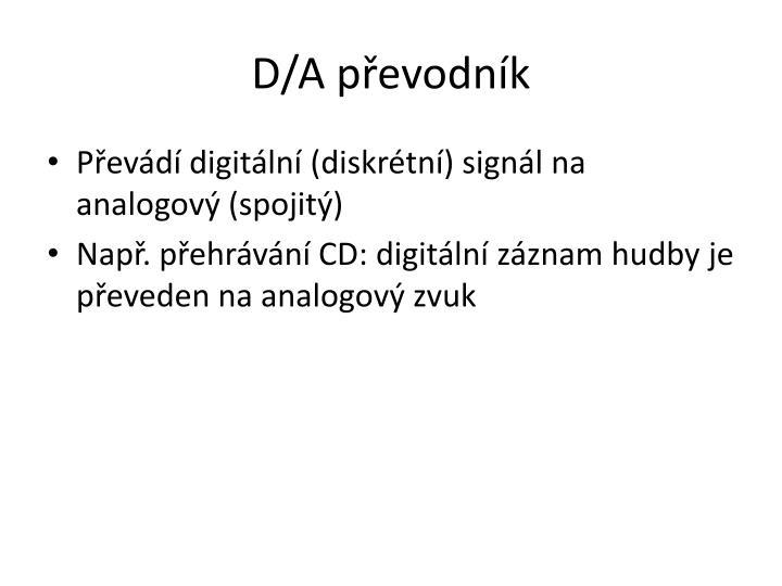 D/A převodník