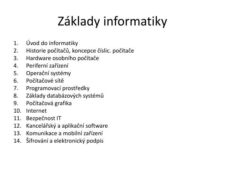 Základy informatiky