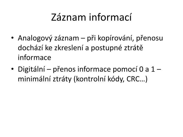 Záznam informací