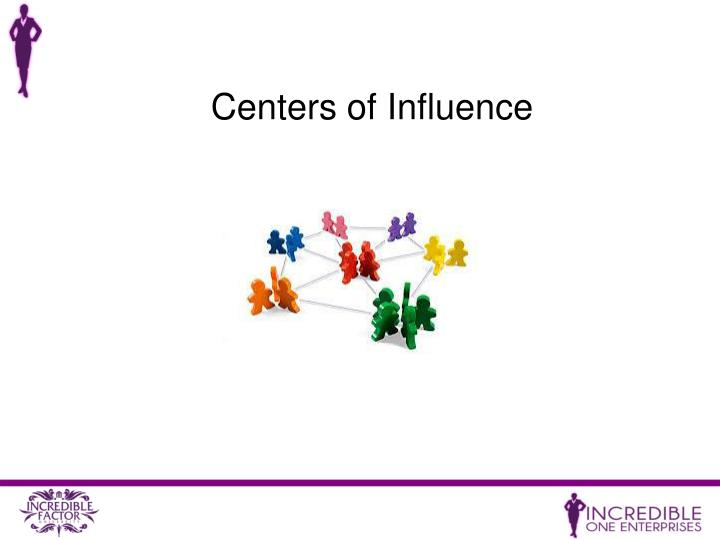 Centers of Influence