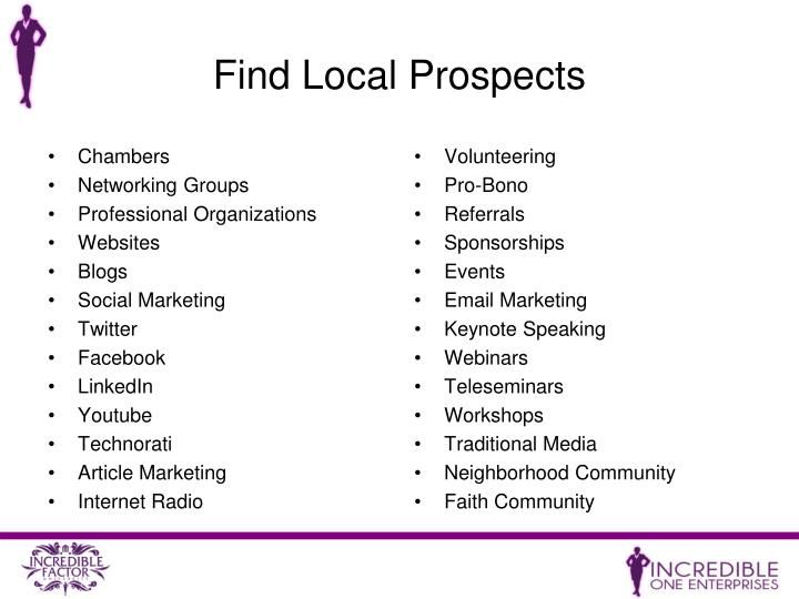 Find Local Prospects