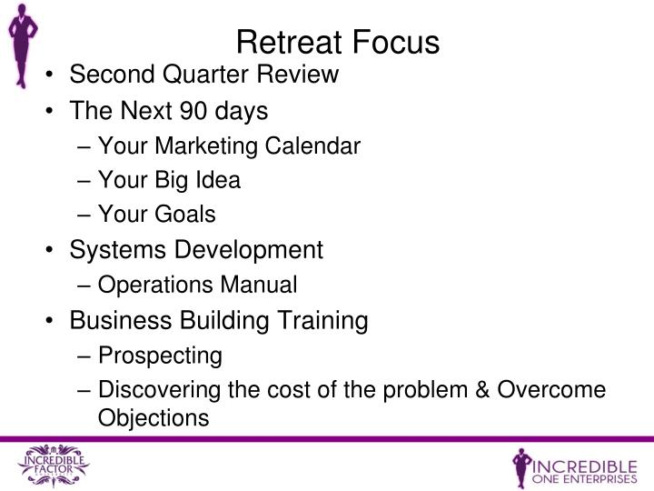 Retreat Focus