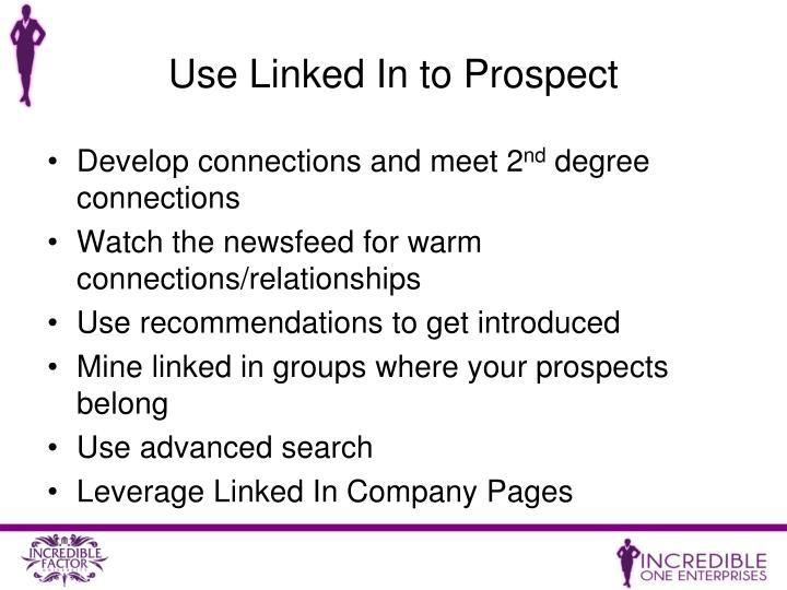 Use Linked In to Prospect