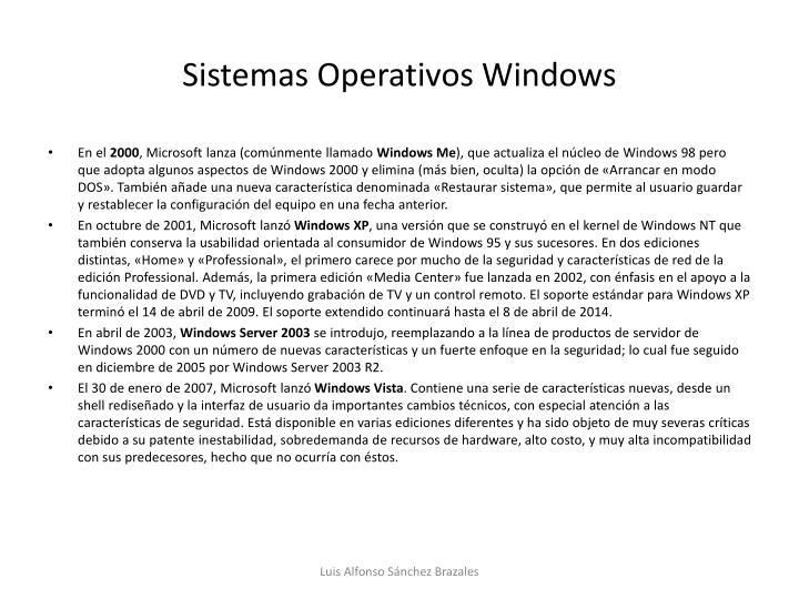 Sistemas Operativos Windows