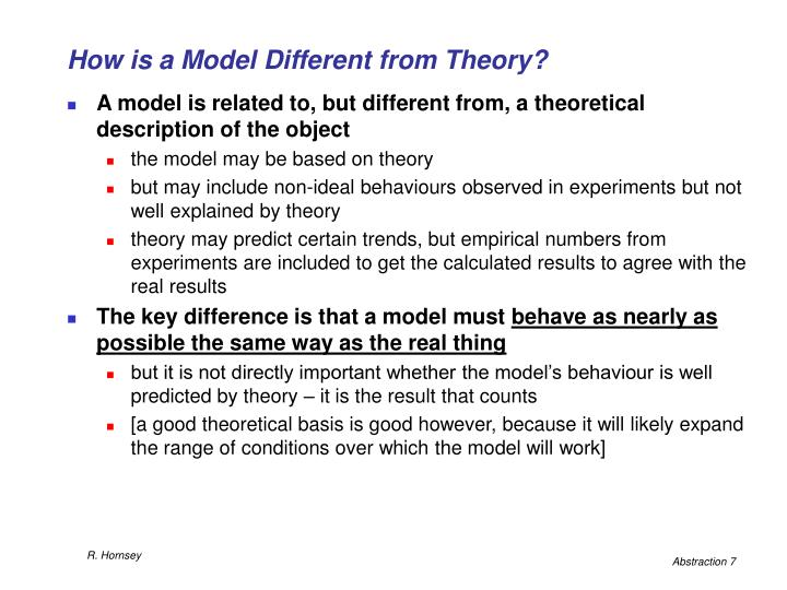 How is a Model Different from Theory?