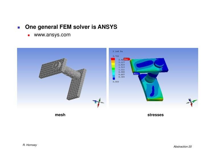 One general FEM solver is ANSYS