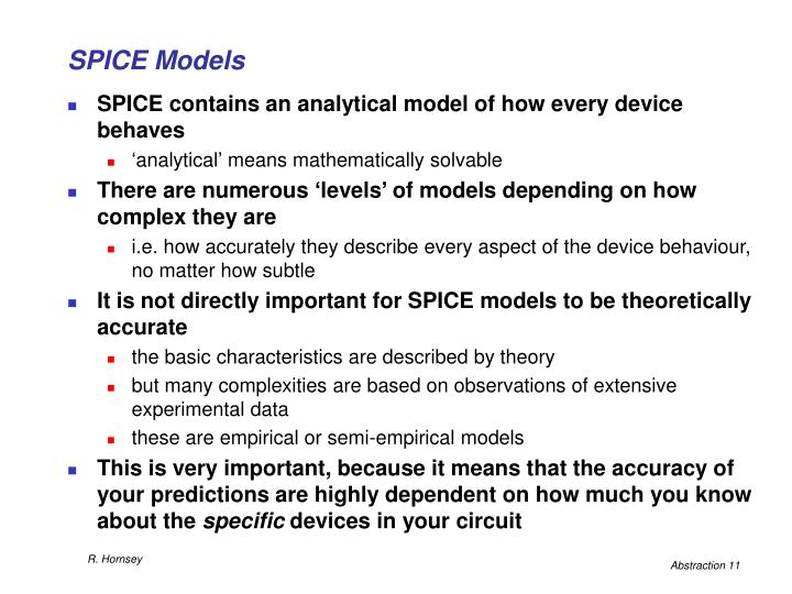 SPICE Models