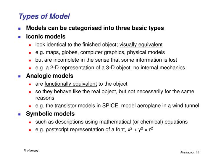 Types of Model